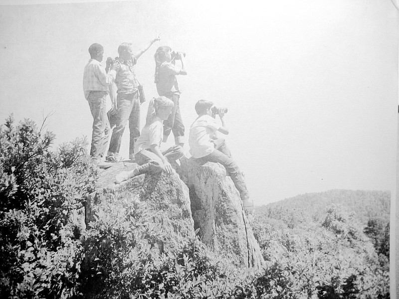 Students hike at San Diego County's sixth grade camp in this undated photo.
