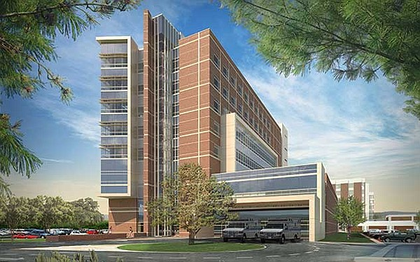 The Barbey Family Emergency and Trauma Center is pictured...