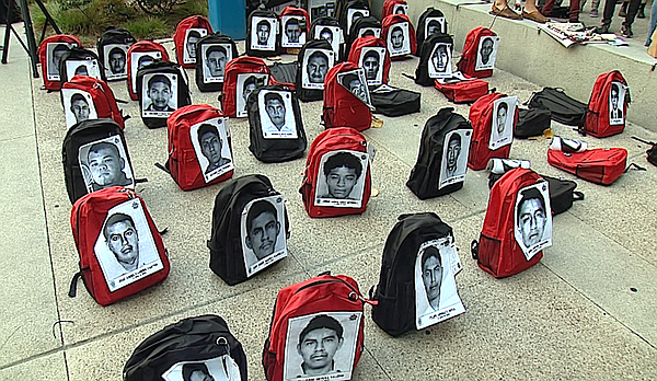 Students at San Diego City College exhibited backpacks re...