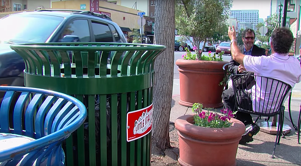 Following redevelopment, Little Italy got more trash cans...