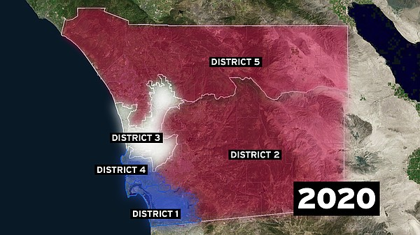 The political make up of the San Diego County Board of Su...