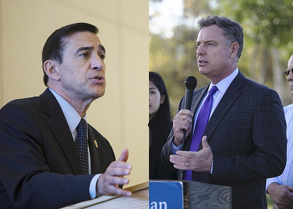 Reps. Darrell Issa, left, and Scott Peters.