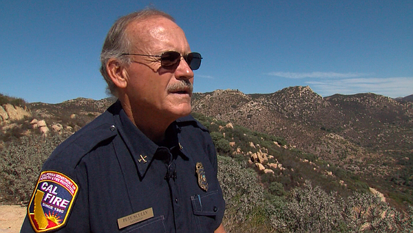 Cal Fire Battalion Chief Pete Scully talks about critically dry vegetation ne...