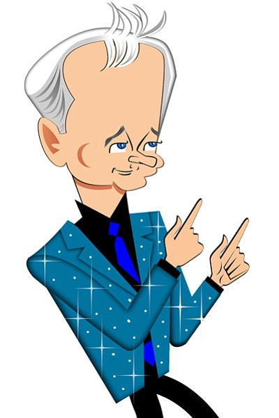 Caricature of actor and comedian Bill Murray, the 19th re...