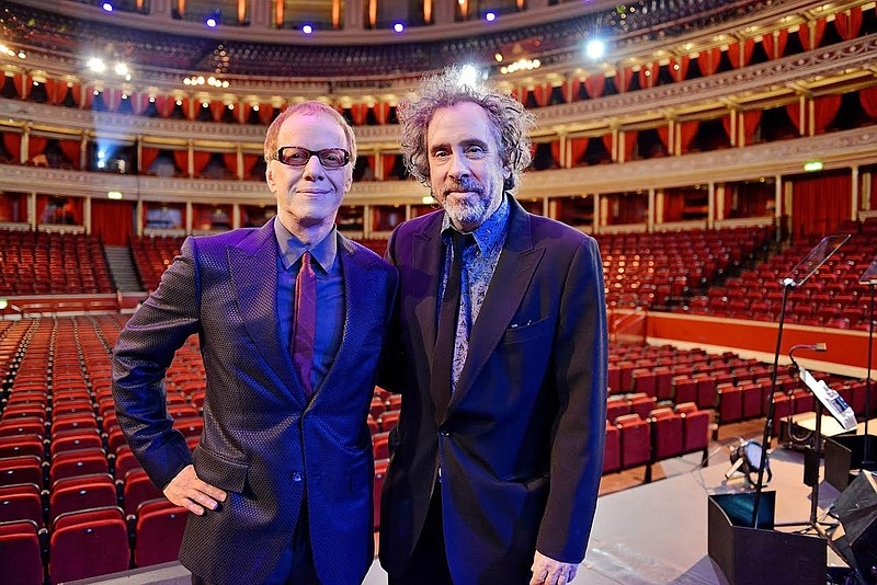 Musician Danny Elfman (left) and director Tim Burton celebrate their may year...