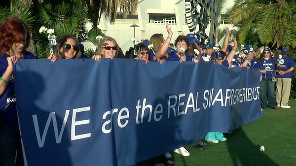 Nurses for Sharp HealthCare rally at the San Diego Conven...
