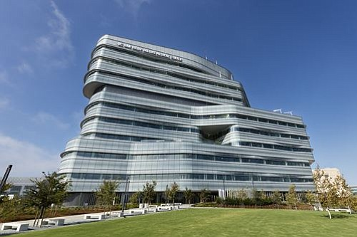 The 10-story Jacobs Medical Center in La Jolla is shown i...