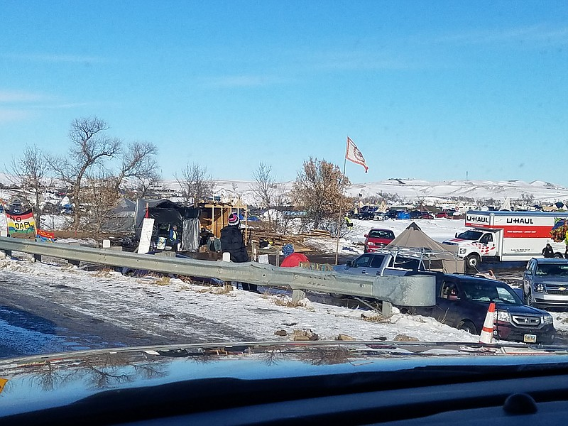 The Barona Band of Mission Indians joins Dakota Access Pipeline protesters ne...