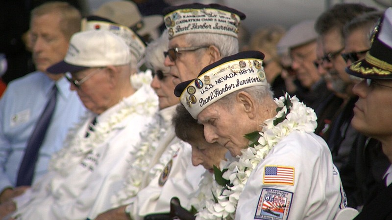 Veterans attend an event at USS Midway Aircraft Carrier Museum commemorating ...