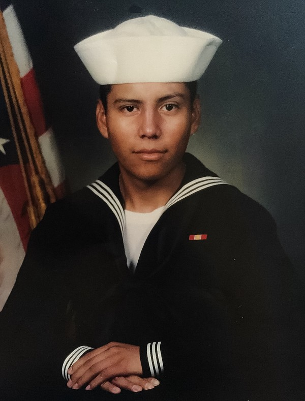 Jose Genis wears his Navy uniform in this undated photo.