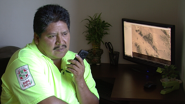 Ely Ortiz listens to phone calls from missing migrants, S...