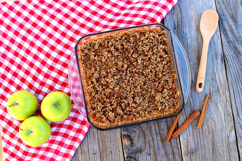 Apple Crumble. Recipe from
