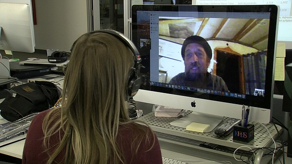 KPBS City Heights Reporter Tarryn Mento conducts a Skype interview with Israe...
