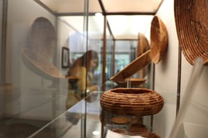 A collection of Kumeyaay baskets displayed at the new cultural museum in El C...