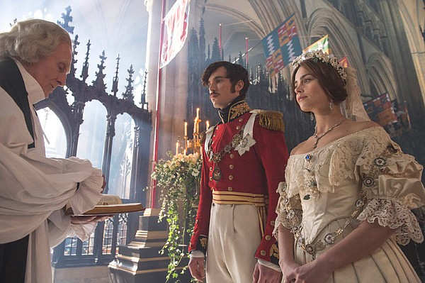 Tom Hughes as Prince Albert and Jenna Coleman as Victoria.