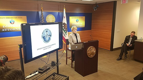 San Diego County District Attorney Bonnie Dumanis prepares to announce her of...
