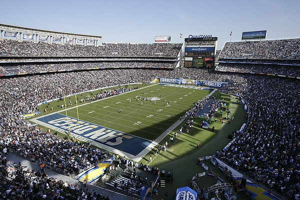 The San Diego Chargers play against the Oakland Raiders d...