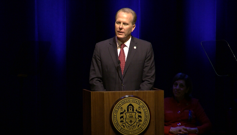San Diego Mayor Kevin Faulconer delivers his State of the City address, Jan. ...