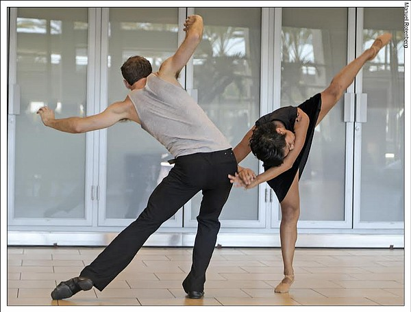 Dancers in the upcoming Janus performance by San Diego Da...