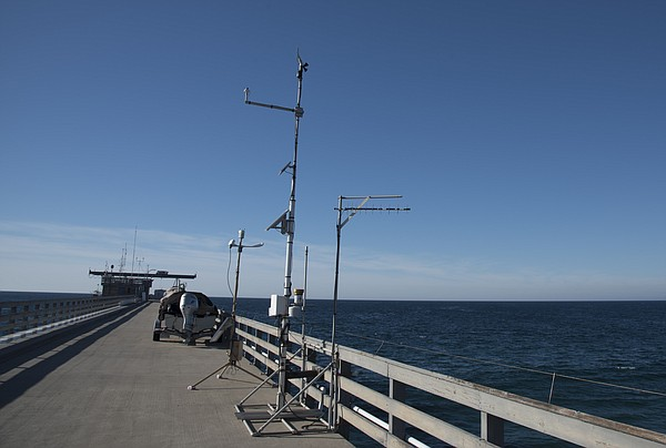 A weather station located on the Scripps Pier in La Jolla...