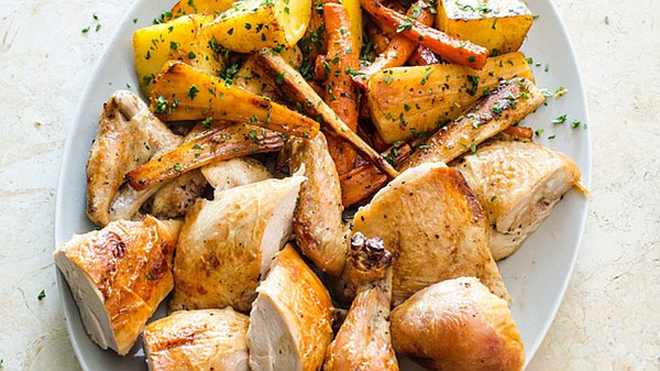 Roast Butterflied Chicken with Rosemary and Garlic