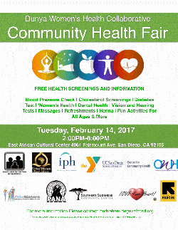 A flyer for the City Heights Community Health Fair scheduled for 2 to 6 p.m. ...