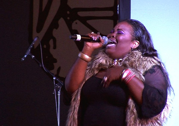 Wilnisha Sutton sings at a concert in Horton Plaza, Nov. ...