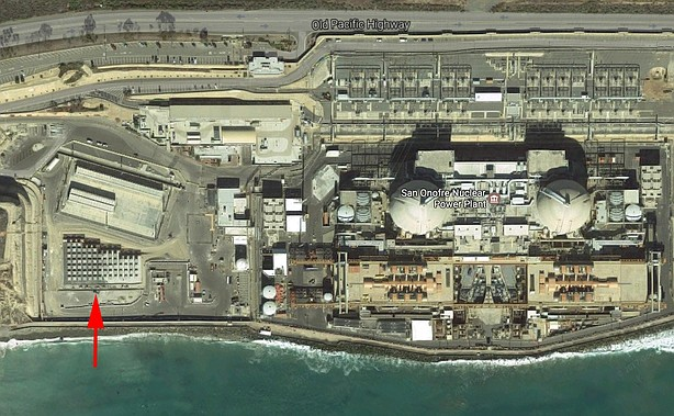Google Earth image showing new location of nuclear waste storage site at the ...