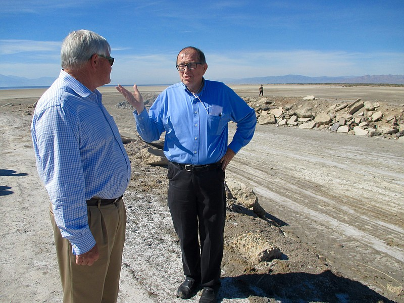 Bruce Wilcox, assistant secretary of Salton Sea policy for the California Nat...