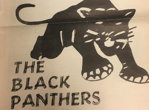 The iconic symbol of the Black Panther Party featured in ...