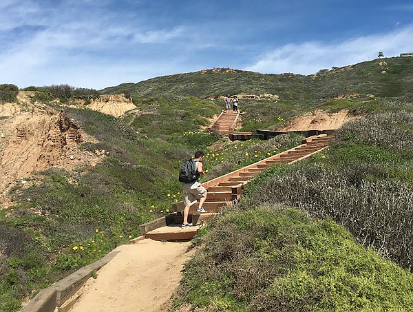 Trails at the Cabrillo National Monument are shown in thi...