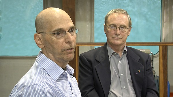 Researcher Ted Melzer and Michael Galarneau, director of operational readines...