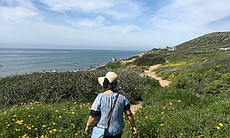 Tourists hike at Cabrillo National Monument, Ma...