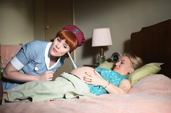 Emerald Fennell as Patsy Mount, Rachel Denning as Penny Reed.