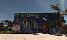 A mural faces a vacant lot at Imperial Avenue a... (99118)