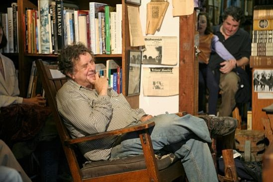 Writer Steve Kowit enjoys a poetry reading in this 2008 photo.