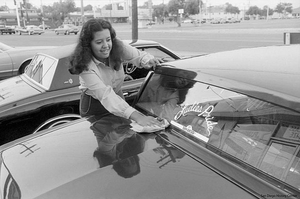 Chris Cano, of Ladies Pride lowrider car club. It was San Diego's first women...
