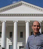 Host Geoffrey Baer at the Virginia State Capitol in Richmond, Va. Designed by Thomas Jefferson, the capitol marked the beginning of the American tradition of modeling government buildings on Roman and Greek temples.