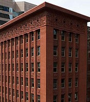 "Louis Sullivan's Wainwright Building in St. Louis, Mo. was not the first skyscraper, but it gave the modern, steel-frame skyscraper its form. Historian Tim Samuelson said it ""taught the skyscraper to soar."""