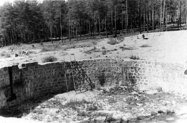 Ponary, Poland, the unfinished fuel tank site, which was ...