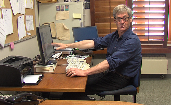 Ralph Keeling explains the Keeling Curve in his office at...