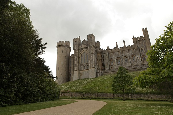 Exterior view of Arundel Castle, West Sussex, England.