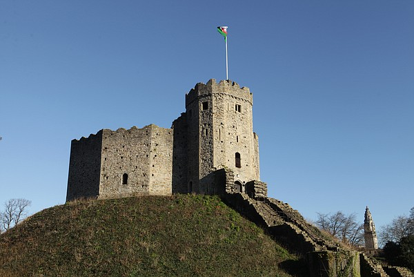Cardiff Castle in Wales, United Kingdom.