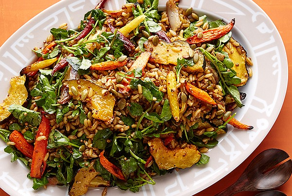 Pictured: Kamut and roasted vegetables. Revive your grai...