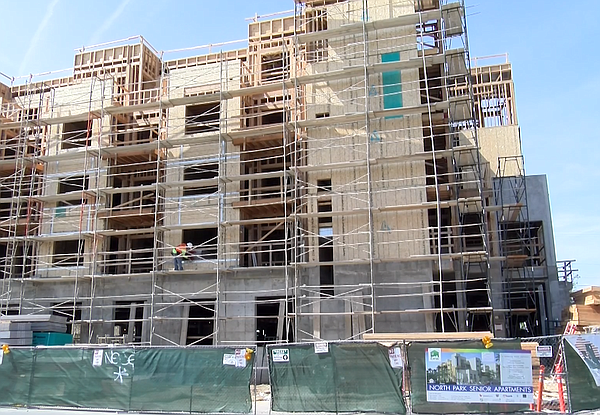 The construction site for an affordable senior housing co...