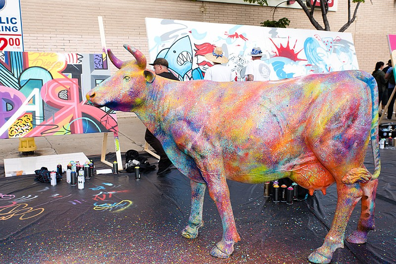An undated photo of art from North Park Festival of the Arts.