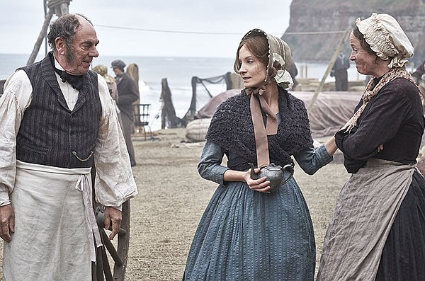 Shown from left to right: Alun Armstrong as George Stott, Joanne Froggatt as ...