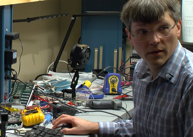 Computer scientist Kirill Levchenko is seen in a lab at UC San Diego, May 25,...