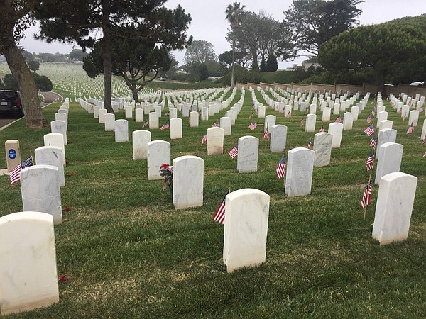 Memorial Day at Fort Rosecrans Military Cemetery on May 2...