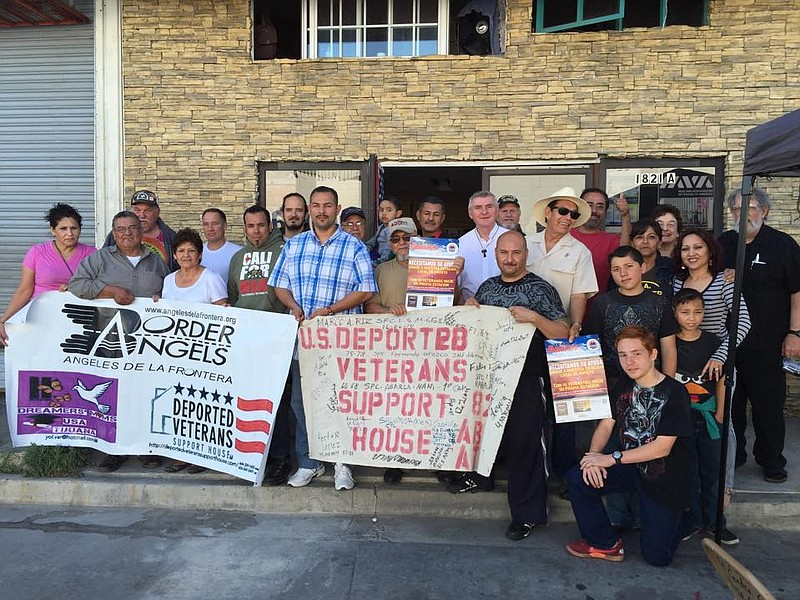 Deported veterans and supporters gather in Tijuana in this undated photo.